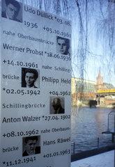 Berlin  Gedenktafel fuer Maueropfer