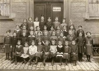 Klosterschule in Ravensburg  Wuerttemberg  Klassenfoto 1924