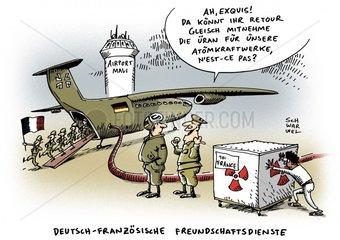Deutschland stellt Frankreich Transportflugzeuge nach Mali zur Verfuegung
