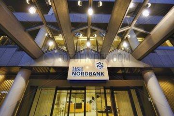 Eingang zur HSH Nordbank am Gerhart-Hauptmann-Platz in Hamburg  Deutschland