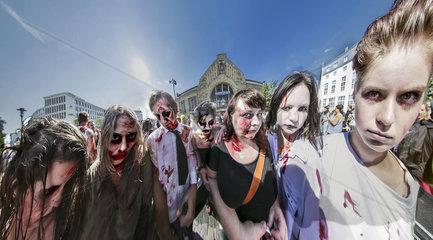 Zombie-Walk in Bielefeld