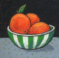 Obst Schale mit Orangen
