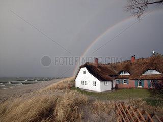 Regenbogen am Strand  Zingst-Darss  Ahrenshoop  Germany