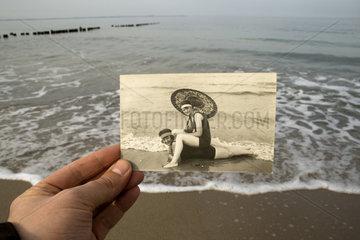 Ostsee - Vergleich mit einem historischen Foto Foto