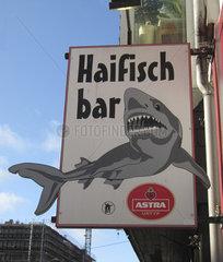 Deutschland  Hamburg  Haifischbar