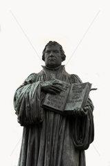 D-Sachsen-Anhalt: Lutherstadt Wittenberg  Skulptur von Martin Luther