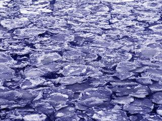 Deutschland  Hamburg  Eisschollen im Hafen