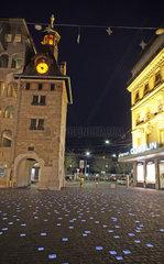 Schweiz  Genf  Place du Molard  abends