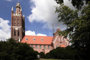 D-Sachsen-Anhalt: Woerlitz  neugotische Kirche St. Petri