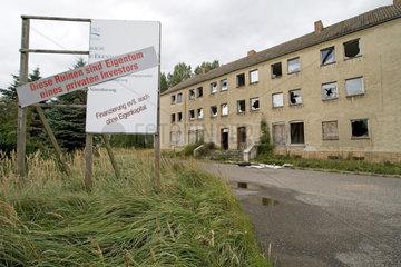 Peenemuende auf Usedom - Ruine eines Investors