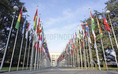 Schweiz  Genf  Sitz der UNO am Place des Nations