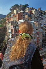 Italien  Ligurien  Cinque Terre  Riomaggiore  Hafen