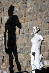 Frauenskulptur mit David's Schatten  Florenz Italien