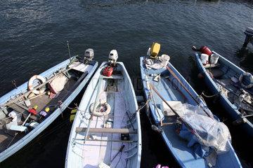 Fischerboote am Comer See   Lago di Como