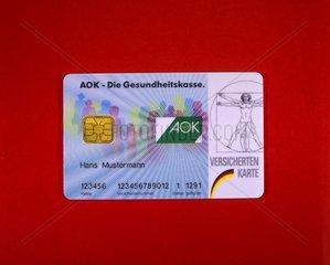 Krankenversicherungskarte der AOK