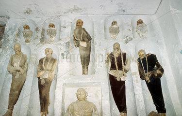 Italien  Sizilien  Palermo mumifizierte Leichen in den Katakomben