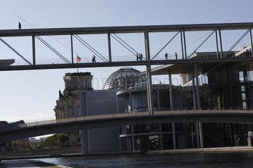 Bundestagsbruecke und Reichstag