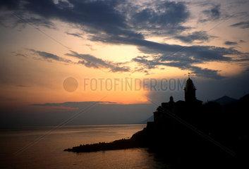 Italien  Ligurien  Camogli  Sonnenuntergang