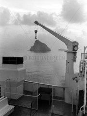 Schiffdeck mit Kran