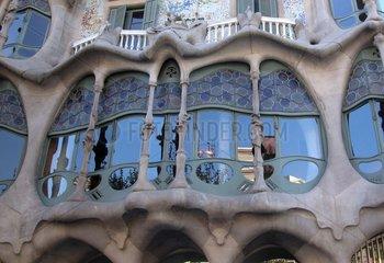 Spanien - Barcelona Casa Battló von Gaudi