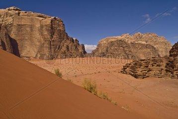 Wueste Wadi Rum  Jordanien  Vorderasien