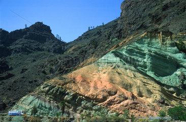 Spain  Cran Canaria  coloured mountains