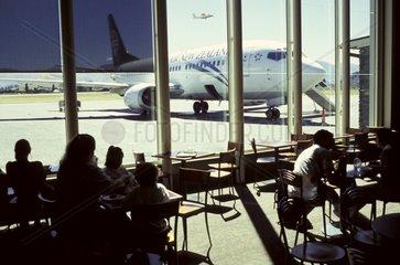 Neuseeland  Suedinsel Otago: Der Flughafen von Queenstown