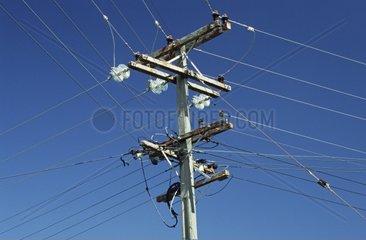 Strommast in Neuseeland