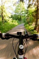 Fahrradfahren aus Fahrerperspektive