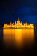 Hungarian Parliament Building in golden light  Budapest