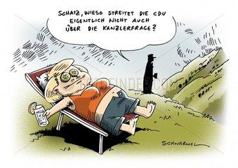 Kanzlerfrage Merkel
