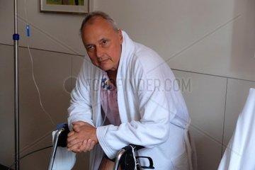 Man in a hospital