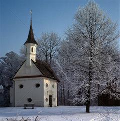 Kirche St. Maria  Herrenchiemsee  Bavaria  Germany  Europe
