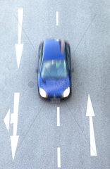 Fahren auf der Strassenmitte