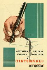 Tintenkuli  neue Erfindung  Prospekt 1930