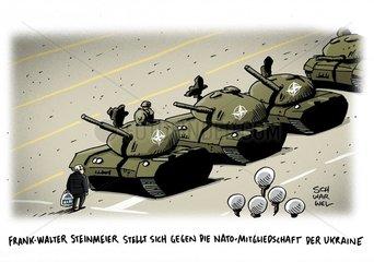Ukraine-Krise : Steinmeier gegen Nato-Mitgliedschaft der Ukraine