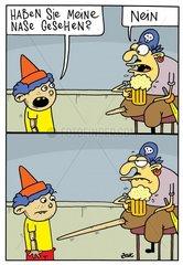 Pinocchio hat die Nase verloren