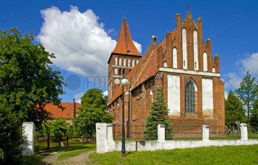 Kirche in Zalewo  Masuren  Polen  Europa