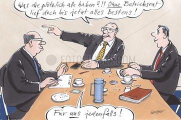 Arbeitgeber Tisch Betriebsrat