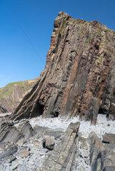 Unique structure of rocks at Hartland Quay in North Devon