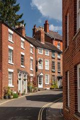 Pretty Georgian street and homes in Shrewsbury