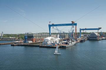 Kiel  Deutschland  Blick auf die Werft German Naval Yards