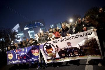 Trauermarsch Wir fuer Deutschland - Rechte Demo