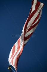 Philadelphia  wehende Nationalflagge der USA