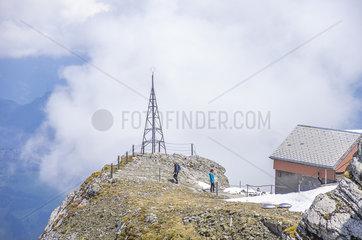 Auf dem Saentis in den Appenzeller Alpen  Schweiz