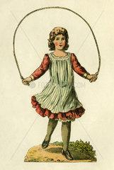 Maedchen beim Seilchenspringen  Illustration 1893