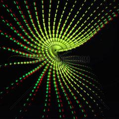 Stereoskopische fraktale Struktur fuer die Betrachung durch anaglyphische rot cyan Brille