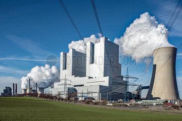 Kohlekraftwerk Neurath blaue Stunde