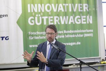 Vorstellung innovativer Gueterwagen  DB Werk Grunewald