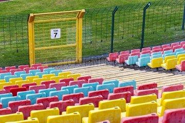 Schutzzaun in einem Sportstadion
